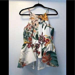 Cameo Floral high low blouse